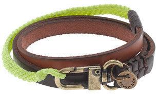 J.Crew Caputo & Co. triple-wrap leather bracelet
