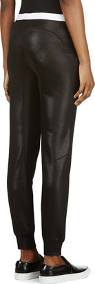 Alexander Wang Black Glossy Double Knit Trousers