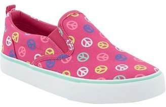 Old Navy Girls Printed Canvas Slip-Ons