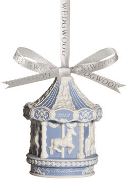 Wedgwood 2012 Annual Baby's 1st Christmas Carousel Ornament - Blue