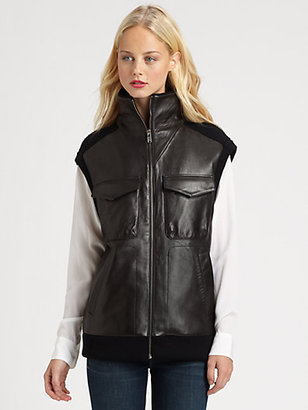 Marc by Marc Jacobs Nuveen Leather Sweater Vest