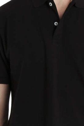 Sunspel Pique Polo Shirt in Black