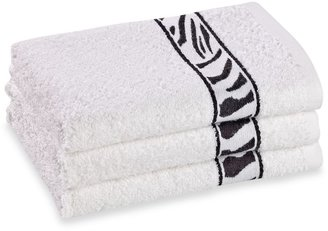 Bed Bath & Beyond Revere Mills Bathsol Zebra Hand Towels in White (Pack of 3)