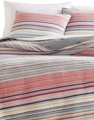 Martha Stewart Rustic Yarn-Dyed Striped Cotton Quilt