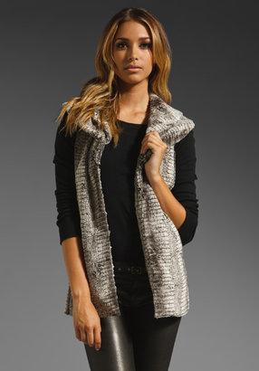 Alice + Olivia Kelsi Double Fur Vest