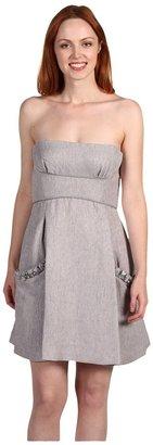 BCBGMAXAZRIA Woven Dress 2 (Misty Morning) - Apparel