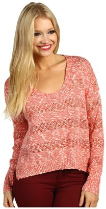 Roxy Rochester Sweater (Juniors) (Pink Coral) - Apparel