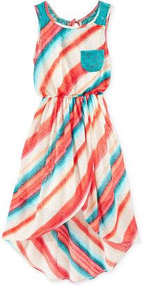 Bonnie Jean Girls' High-Low Printed Maxi Dress