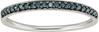 Ice.com 1/10 Carat Blue Diamond 14K White Gold Ring