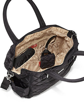 Storksak Bobby Three-Piece Quilted Diaper Bag, Bottle Holder & Changing Pad Set