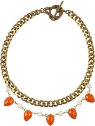 Lulu Frost Brass teardrop necklace