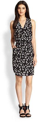 Rebecca Taylor Bobcat Printed Silk Dress