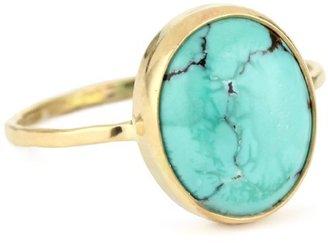 """Melissa Joy Manning Neptune"""" 14k Gold Turquoise Ring"""