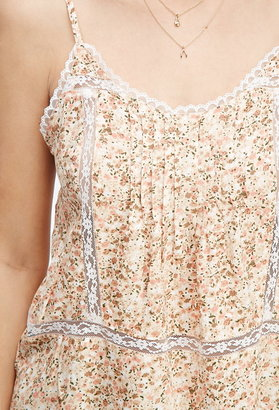 Forever 21 Contemporary Pintucked Floral Cami