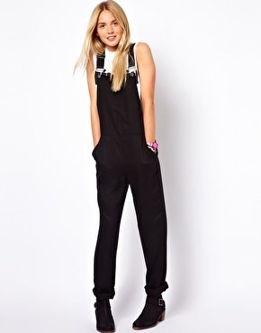 Asos Overalls in Relaxed Fit - Black