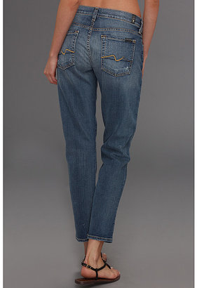 7 For All Mankind Josefina w/ No Roll in Light Blue Distressed
