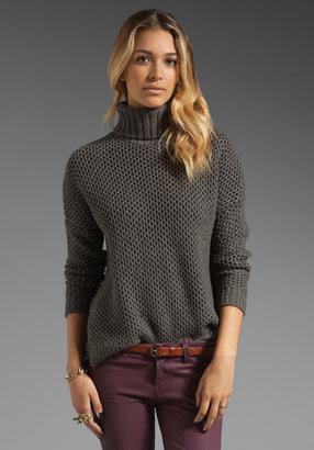 Vince Textured Honeycomb Turtleneck Sweater