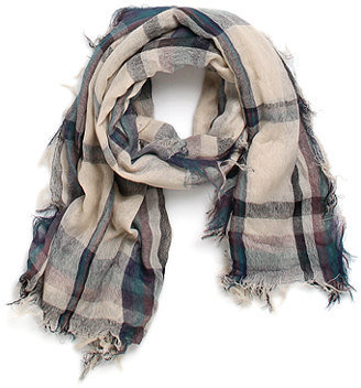 With Love From CA Plaid Fringe Scarf