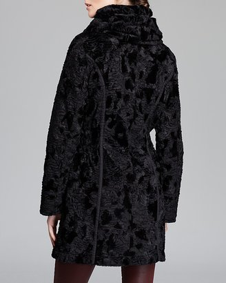 Laundry by Shelli Segal Coat - Faux Fur Reversible Quilted