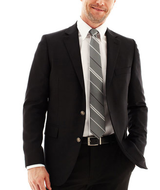 JCPenney Stafford Executive Hopsack Blazer - Classic