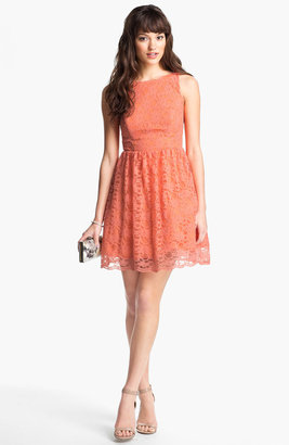 Way-In Cutout Lace Skater Dress (Juniors)