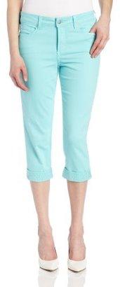 NYDJ Women's Petite Alyssia Rhinestone Cuff Crop Jean