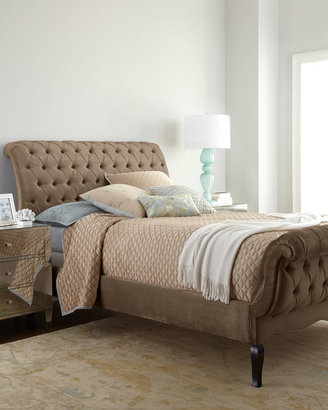 Haute House Taupe Tufted Bed