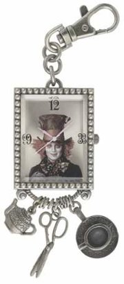 Alice in Wonderland Women's AL4024 Mad Hatter Gold Dial Key Chain Charm Watch $57 thestylecure.com