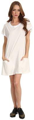 Yohji Yamamoto Lite Jersey Pocket Dress (RunWhite) - Apparel