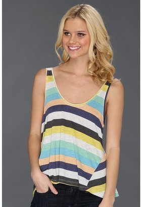 Alternative Apparel Tee Ball Tank (Boardwalk Blue Tropics Stripe) - Apparel