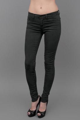 J Brand MidRise Twill Skinny Jean Conifer