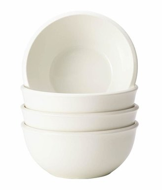 Rachael Ray Dinnerware Rise 4-Piece Stoneware Cereal Bowl Set in White