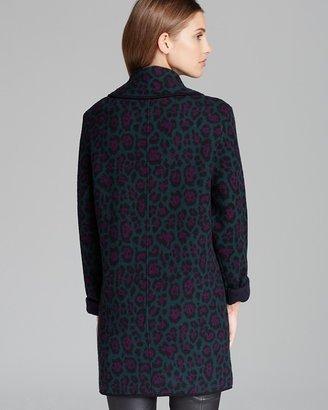 Torn By Ronny Kobo Coat - Eugenie Oversize Leopard