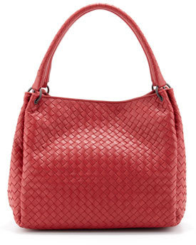 Bottega Veneta Parachute Intrecciato Shoulder Tote Bag, Red