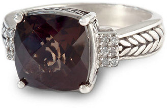 EFFY COLLECTION Smoky Quartz and Diamond Ring in Sterling Silver, .06 ct. t.w.