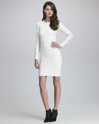 Yigal Azrouel Long-Sleeve Sheath Dress