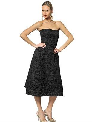 Dolce & Gabbana Jacquard Strapless Dress
