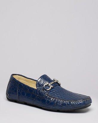 Salvatore Ferragamo Parigi 3 Crocodile Skin Driving Loafers