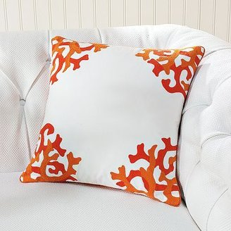 Williams-Sonoma Embroidered Coral Pillows