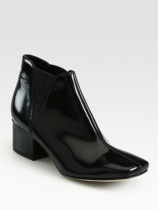 Acne Elara Square Patent Leather Ankle Boots
