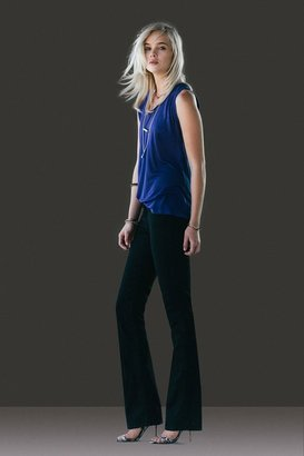 7 For All Mankind Slim Illusion Skinny Bootcut In Elasticity Black