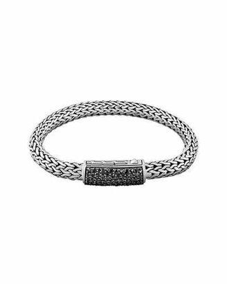 John Hardy Men's Classic Chain Black Sapphire Station Clasp Bracelet $1,295 thestylecure.com
