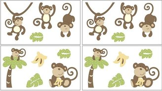 CoCalo TM baby monkey time wall appliques