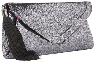 Betsey Johnson Evening Envelope Clutch (Pewter) - Bags and Luggage