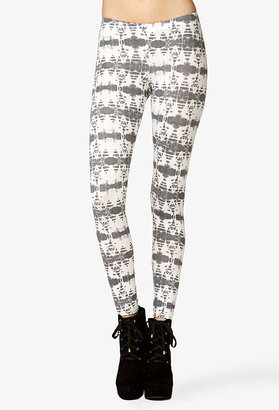 Forever 21 Striped Tie-Dye Leggings