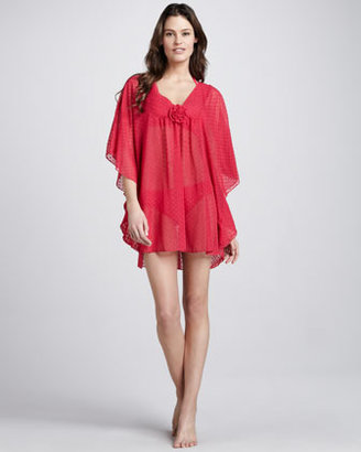 Betsey Johnson Sweetness Dotted Coverup