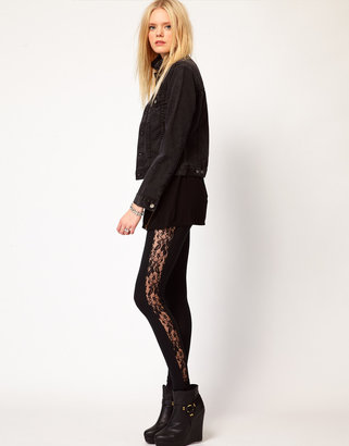 LnA Lace Detail Leggings