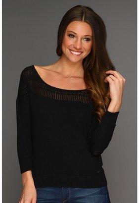 Roxy Daisies Kiss Sweater (True Black) - Apparel