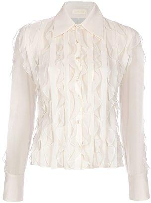 Valentino Ruffle detail blouse