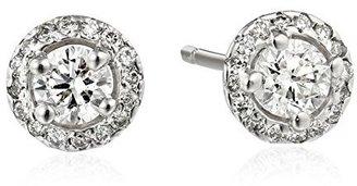"KC Designs Metro"" 14k White Gold and Diamond Stud Earrings"